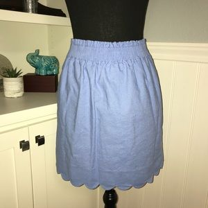 J. Crew Scallped Skirt